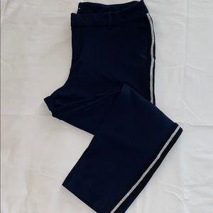 Mid-Rise ponte knit side stripe pixie ankle pant